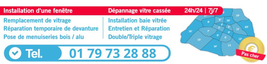 urgence vitrier Paris